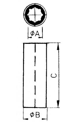 CENTRALE CORRIMANO INOX MM.25