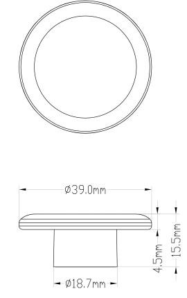BASE CONICA INOX MM 30 60Ø