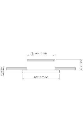 BASE CONICA INOX MM.25 60